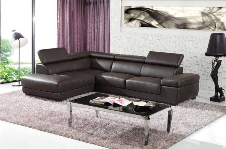 Mẫu sofa da màu đen sang trọng