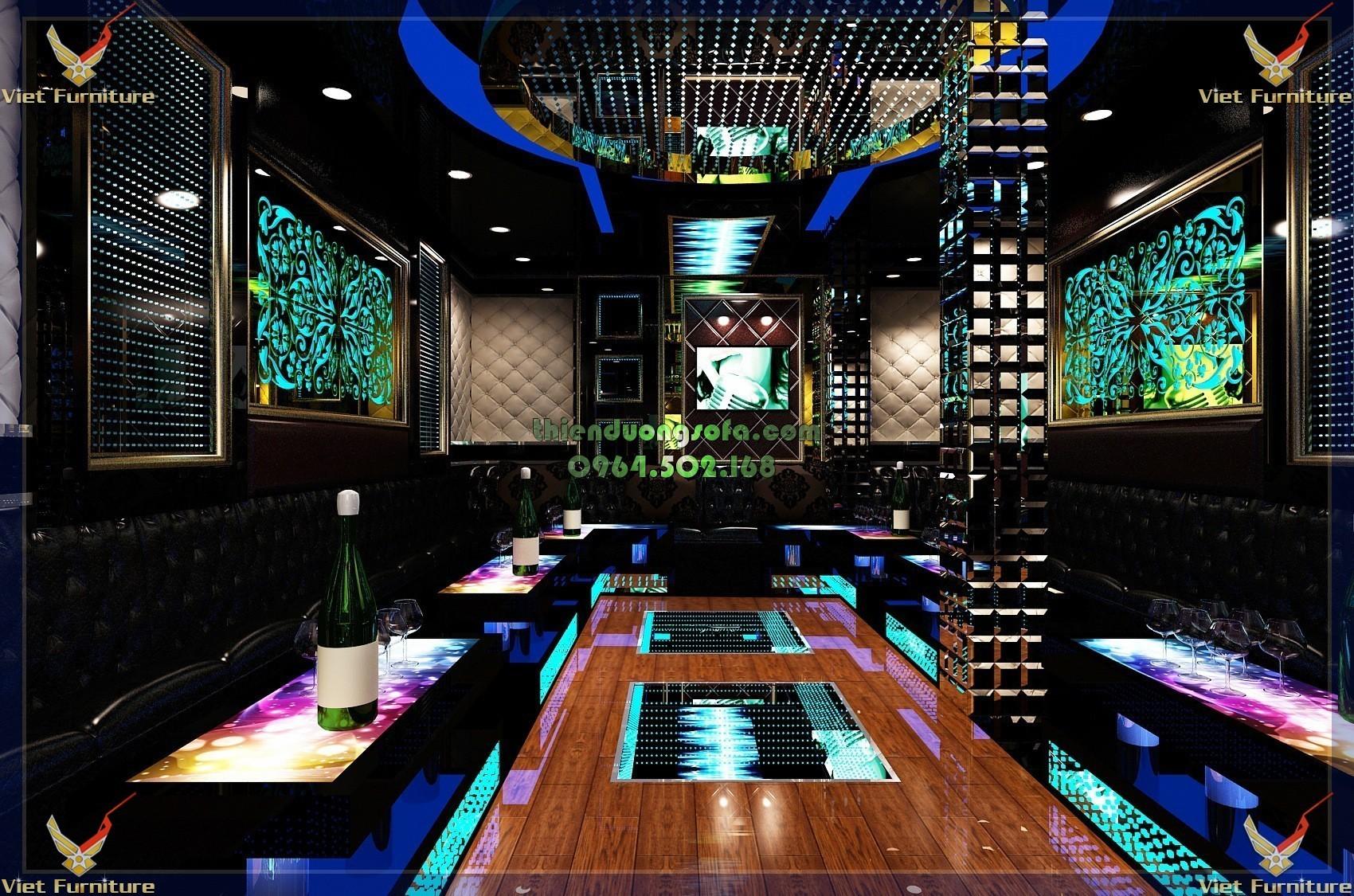 Sofa karaoke tân cổ điển sang trọng quyến rũ